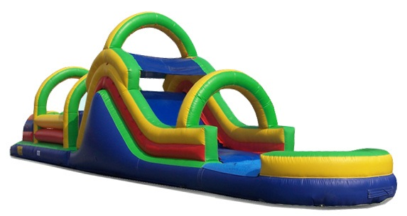 55 Ft. Obstacle Course w/ Pool