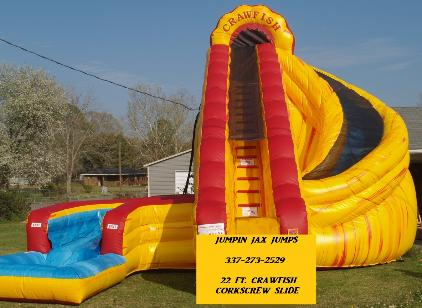 22 Ft. Crawfish Corkscrew Water Slide