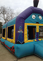 Double Train Bounce House