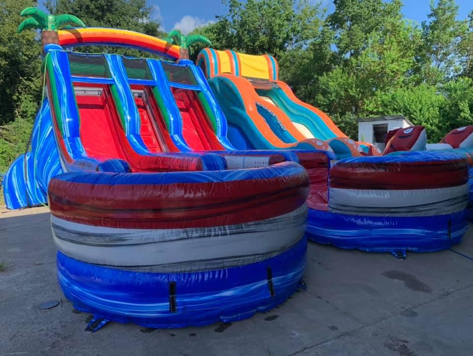 16ft. Baja Splash Double Slide